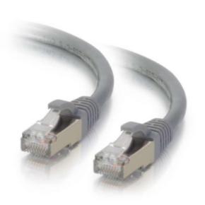 12' Network/LAN Patch Cord, Cat 6, M - M, RJ45/RJ45, Gray