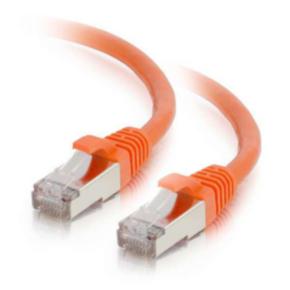 12' Network/LAN Patch Cord, Cat 6, M - M, RJ45/RJ45, Orange