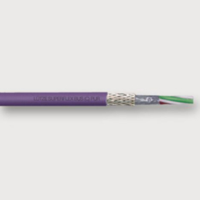 Profibus Cable, 24 AWG, Shielded, 2 Conductor, 300V, Purple