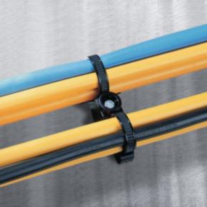 2 Piece Cable Tie, Black