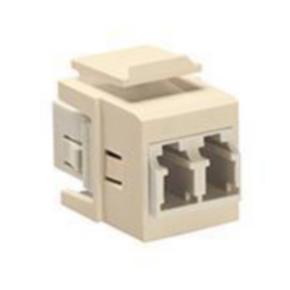 "Fiber Optic Adapter, Duplex, LC to Bulkhead Modules, 1.15"", White"