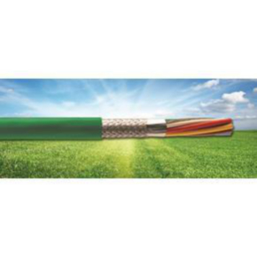 14 AWG, Multi-conductor Electronic Cable, 4 Conductor, Unshielded, Green