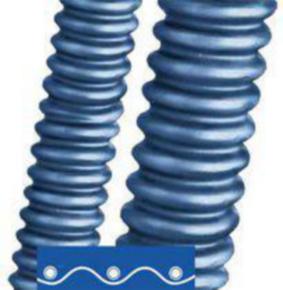 "Plastic Conduit, 1.14"" ID, 1-1/4"" Trade Size, PU, Blue"