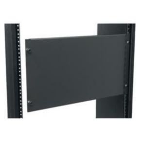 "Panel, 10.50""x19"", 6U, Aluminum, Black Powder Coat"