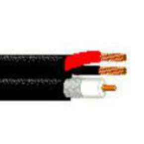 Composite Coaxial Cable, 18 & 20 AWG, Black, 649948