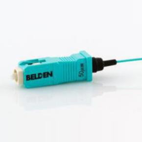 Fiber Optic Connector Moudlar Plug, SC, Aqua