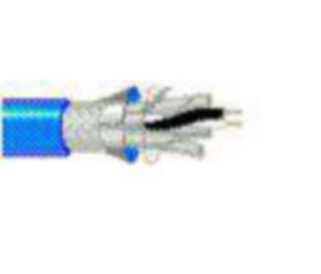 10Base5, 20 & 22 AWG, 4-Pair, TINNED COPPER BRAID, Blue, 1000'
