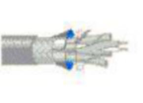 10Base5, 24 & 28 AWG, 4-Pair, ALUMINUM FOIL/POLYESTER TAPE/ALUMINUM FOIL AND TINNED COPPER BRAID, Gray, 500'
