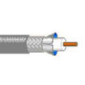 RG11/U Coaxial Cable, 14 AWG, Shielded, Black, 7731A