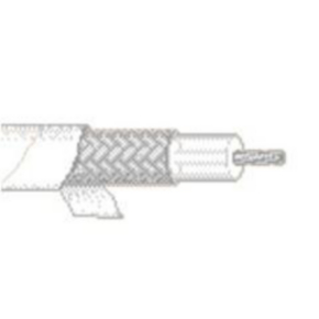 RG188A/U Coaxial Cable, 26 AWG, Shielded, White, 83269