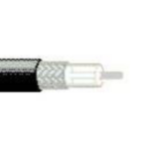 RG405/U Coaxial Cable, 24 AWG, Shielded, Black, 1671J