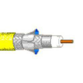 Specialty Coaxial Cable, 12 AWG, Shielded, Yellow