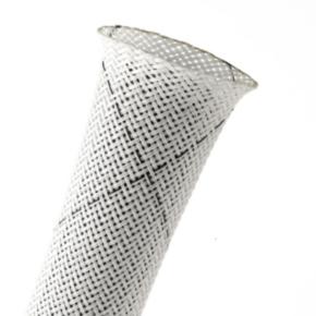 "Expandable Sleeve, Size 1/4"", PET, White/black"
