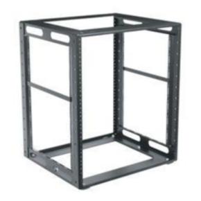 "Specialty Cabinet Frame Rack, 21.94""x19.25"", 12U, Steel"