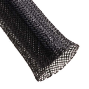 """Expandable Sleeve, Expands: 1.75"""" to 0.75"""", Uncoated, 0.028"""" Wall, Size 1.25"""", Nylon, Black"""