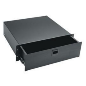 "Rack Drawer, 7""x19"", 50 LBS, 4U, Steel"