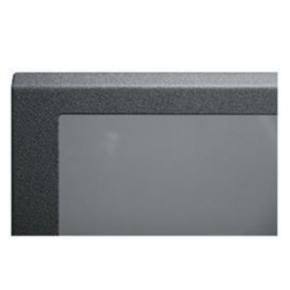 "Panel, 17.594""x20.375"", 8U, Steel, Black Powder Coat"