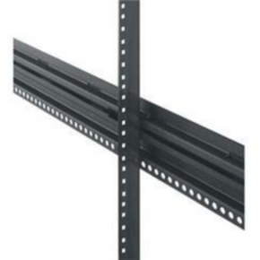 "Pair Rack Rail, 77""x5.406"", 44U, Steel"
