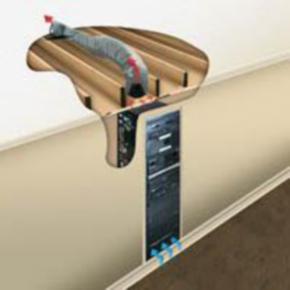 """Rack Duct Cooler System, 10.40""""x10"""", 135CFM, Steel"""
