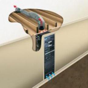 """Rack Duct Cooler System, 11.40""""x10.30"""", 293CFM, Steel"""