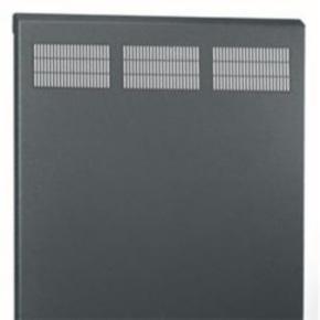 """Panel, 18.37""""x20.04"""", 10U, Steel, Black"""