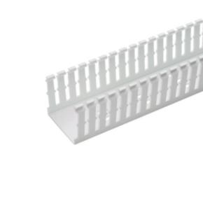 """Duct, 1.12""""x6'x1.75"""", Narrow Slot Wall, Lead-free PVC, White"""