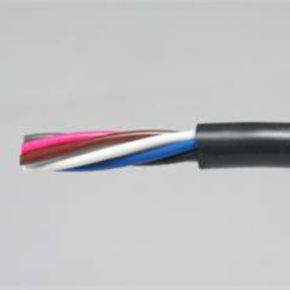 Power Limited Tray Cable, 22 AWG, 6 Conductor, Unshielded, Black