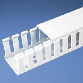 "Duct, 1.06""x6'x0.92"", Wide Slot Wall, Lead-free PVC, White"