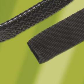 "Expandable Sleeve, Expands: 1"" to 0.50"", 0.05"" Wall, Heavy Wall, Size 0.25"", Nylon 6.6, Black"