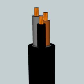 H05VV-F <HAR> Portable Cord, 0.75MM2 AWG, 24 Strand, 4C, PVC, Black