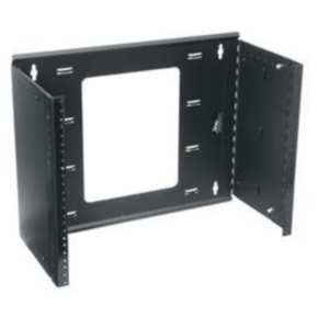 """Wall/Panel Mount Rack, 10.50""""x19.61"""", 6U, Steel"""