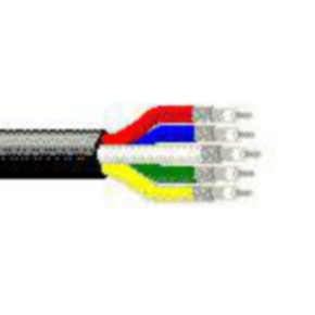 Component Cables Coaxial Cable, 25 AWG, Shielded, Black, 1279P