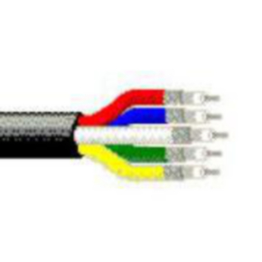 Component Cables Coaxial Cable, 25 AWG, Shielded, Black, 1395P