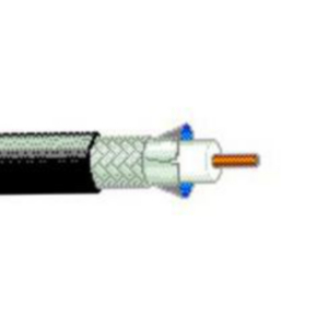 RG11/U Coaxial Cable, 14 AWG, Shielded, Black, 7732A