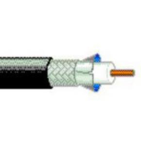 RG58/U Coaxial Cable, 17 AWG, Shielded, Black, 7807R