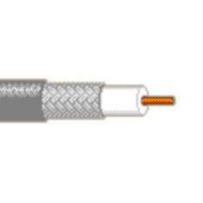 RG58/U Coaxial Cable, 20 AWG, Shielded, Black, 82240