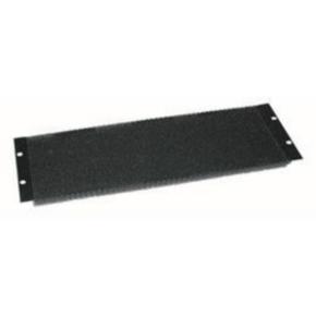 "Panel, 5.25""x19"", Steel, Black Powder Coat"