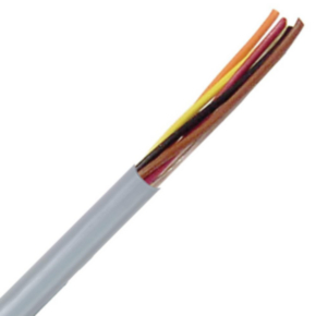 Power Limited Tray Cable, 16 AWG, 3 Conductor, Unshielded, Gray