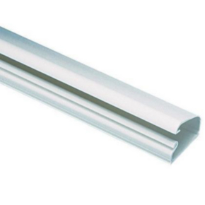 """Duct, 0.58""""x10'x1.01"""", Solid Wall, PVC, White"""