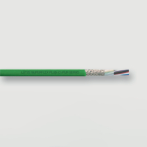 Servo Control Cable, 14 & 16 AWG, TPE Insulated, PUR Jacket, Green
