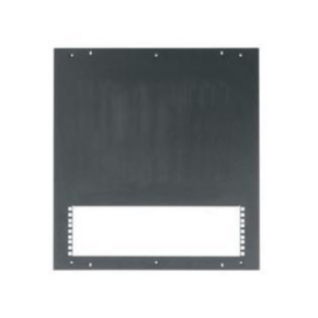 "Panel, 0.50"", 24U, Steel, Black Textured Powder Coat"