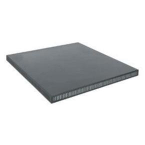 """Panel, 26.256""""x21.88"""", Steel, Black"""