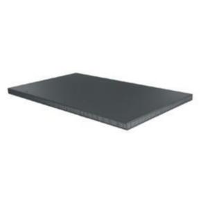 """Panel, 35.856""""x21.88"""", Steel, Black"""