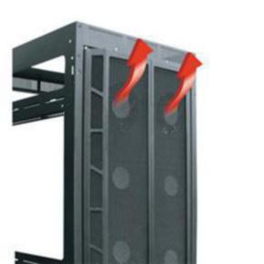 "Panel, 78.125""x19.22"", 44U, Steel, Black Powder Coat"