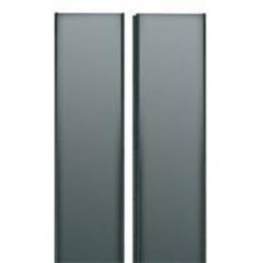 "Panel, 43.234""x19.195"", 24U, Steel, Black Powder Coat"