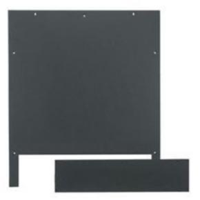 """Panel, 25.06""""x21.70"""", Steel, Black"""