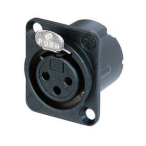 XLR, Female, Less Than 50V, Black with gold contact
