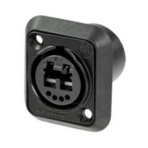 Fiber Optic Adapter, Duplex, LC, Black
