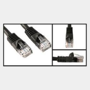 10' Network/LAN Patch Cord, Cat 5e, RJ45/RJ45, Black