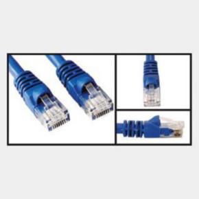 10' Network/LAN Patch Cord, Cat 5e, RJ45/RJ45, Blue